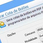 Tela Gerar Bolão em PDF