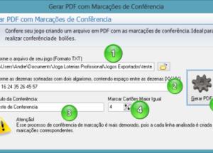 Gerando PDF com marcações de confêrencia