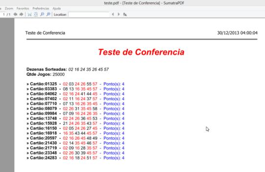 Arquivo em PDF exportado com as marcações