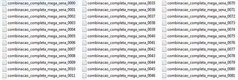 Arquivos no formato TXT divididos em linhas