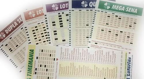 Impressões realizadas com o Joga Loterias Profissional